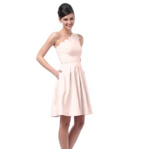 Weddington Way Claire Blush Pink One Shoulder 10